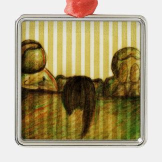 The Judges by Kaye Talvilahti Metal Ornament