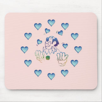 the juggler in love mouse pad