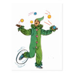 The Juggling Clown Post Card