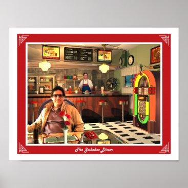 Art Themed The Jukebox Diner Poster
