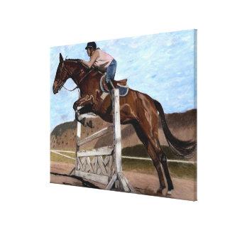 """The Jumper"" Horse Canvas Art"