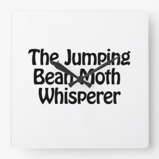 the jumping bean moth whisperer square wall clock