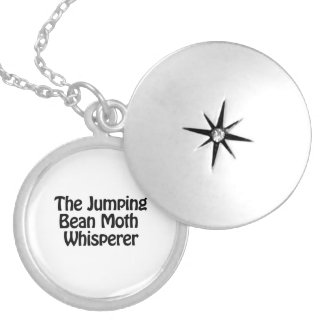 the jumping bean moth whisperer round locket necklace