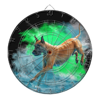 The jumping Great Dane Dartboard With Darts