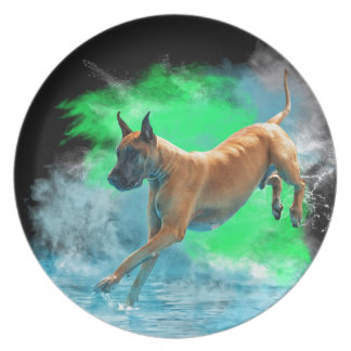The jumping Great Dane Plate