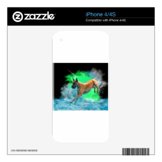 The jumping Great Dane Skin For iPhone 4S
