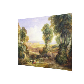 The Junction of the Severn and the Wye with Chepst Canvas Print