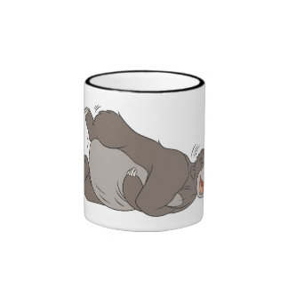 The Jungle Book Baloo laughing on the ground Ringer Mug