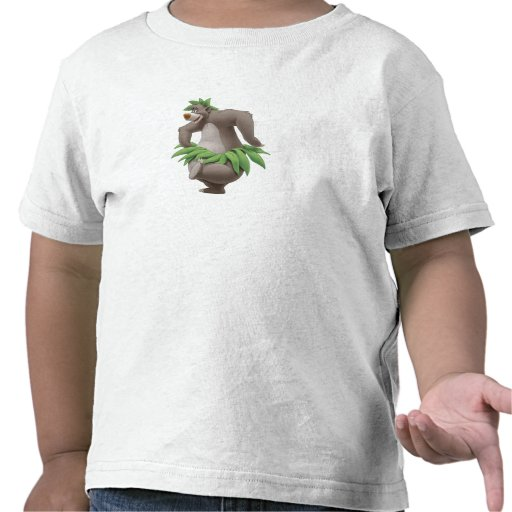 The Jungle Book Baloo With Grass Skirt Disney Tshirt
