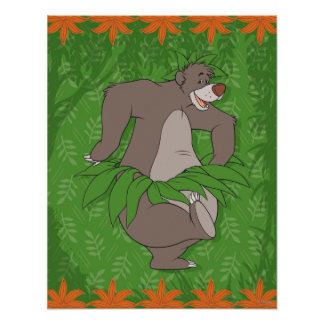 The Jungle Book Baloo with Grass Skirt Print