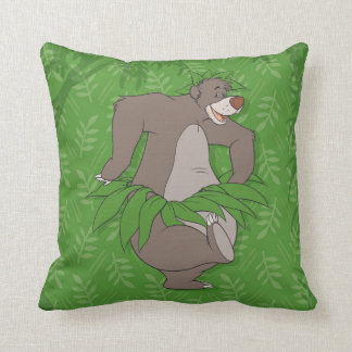 The Jungle Book Baloo with Grass Skirt Throw Pillow