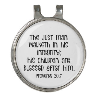 The Just Man Proverbs Verse Golf Hat Clip