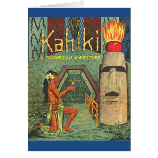 The Kahiki Tiki club menu card