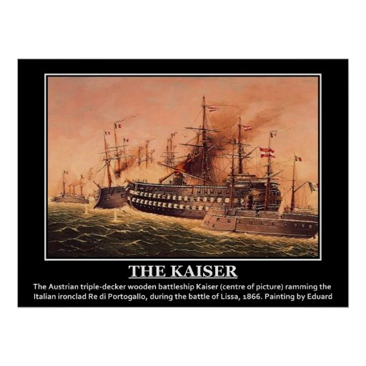 The Kaiser Imperial Austrian Navy Vintage Image Poster