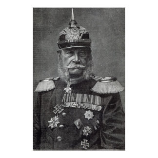 The Kaiser Wilhelm, from 'Leisure Hour', 1888 Poster