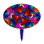 THE KALEIDOSCOPE EFFECT  (pattern design) ~ Cake Toppers