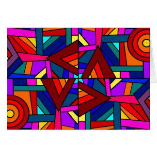 THE KALEIDOSCOPE EFFECT pattern design Greeting Card