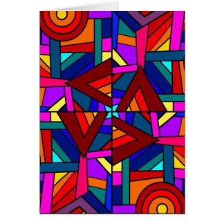 THE KALEIDOSCOPE EFFECT pattern design Card