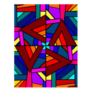 THE KALEIDOSCOPE EFFECT pattern design Post Cards