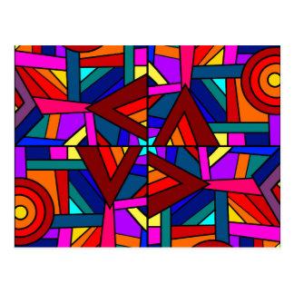 THE KALEIDOSCOPE EFFECT pattern design Post Card
