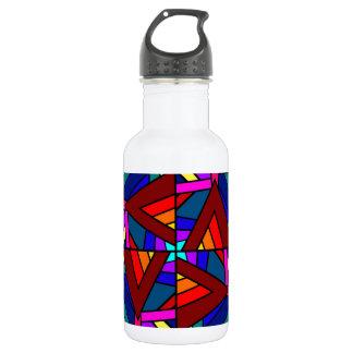 THE KALEIDOSCOPE EFFECT  (pattern design) ~ Stainless Steel Water Bottle