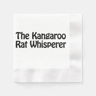 the kangaroo rat whisperer coined cocktail napkin