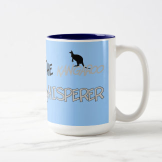 The Kangaroo Whisperer T-Shirts and Gifts Two-Tone Coffee Mug