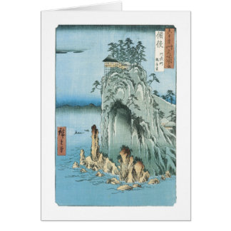 The Kannon Temple, HIroshige, 1856-58 Card