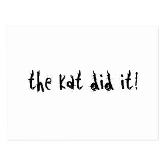 The Kat Did It! Postcard