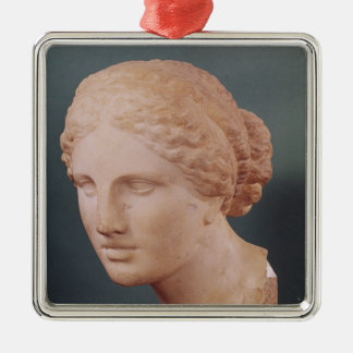 The Kauffmann Head, Head of Aphrodite Square Metal Christmas Ornament