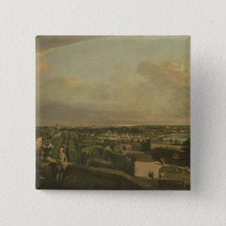 The Kaunitz Palace and Garden, Vienna, 1759/60 Pinback Button