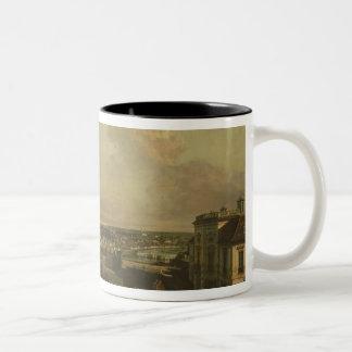 The Kaunitz Palace and Garden, Vienna, 1759/60 Two-Tone Coffee Mug