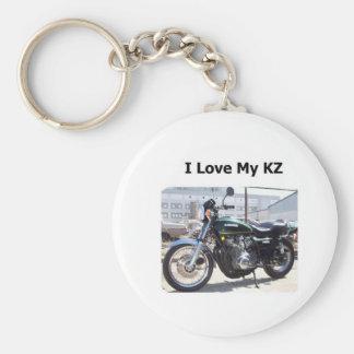 the kawi dr I love my kz Basic Round Button Keychain