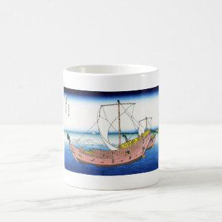 The Kazusa sea route katsushika Hokusai Fuji Classic White Coffee Mug