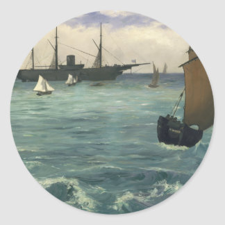 "The ""Kearsarge"" at Boulogne - Édouard Manet Classic Round Sticker"