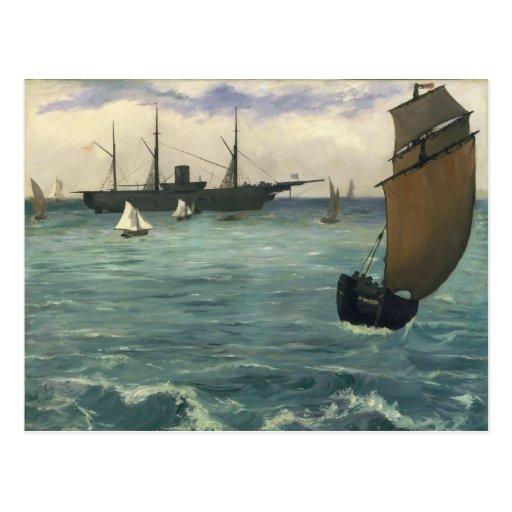 "The ""Kearsarge"" at Boulogne - Édouard Manet Postcard"
