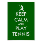 The Keep calm and play tennis poster parody
