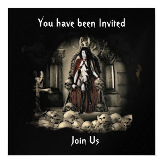 The Keep Vampire Halloween Invitation 1