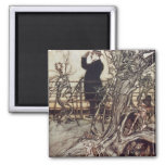 The Kensington Gardens are in London 2 Inch Square Magnet