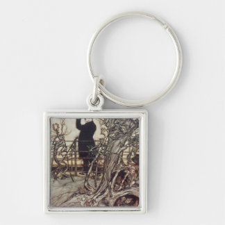 The Kensington Gardens are in London Keychain