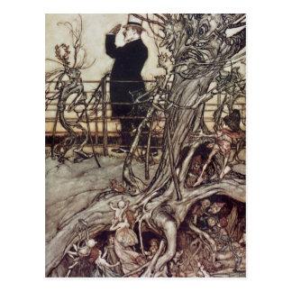 The Kensington Gardens are in London Postcard