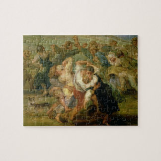 The Kermesse, detail of peasants dancing, c.1635-3 Jigsaw Puzzle