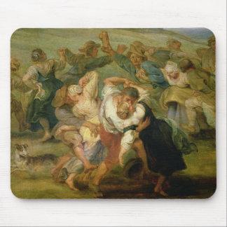 The Kermesse, detail of peasants dancing, c.1635-3 Mouse Pad