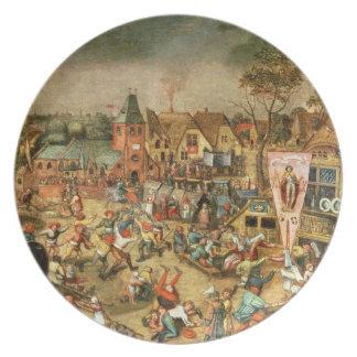 The Kermesse of the Feast of St. George Melamine Plate