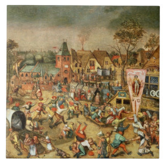The Kermesse of the Feast of St. George Tile
