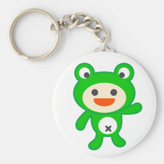The kero tsu child - the T shirt which can be appl Basic Round Button Keychain