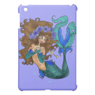 The KEY Mermaid in BLUE Speck Case Cover For The iPad Mini