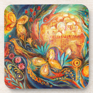 The Key of Jerusalem Drink Coaster