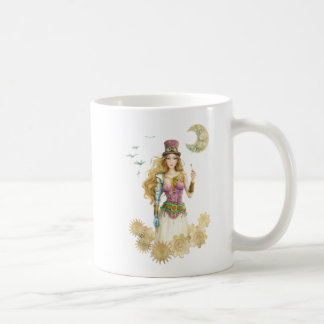 """""""The Key"""" Steampunk Girl By Scot Howden Coffee Mugs"""