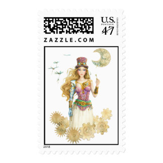 'The Key' Steampunk Stamp